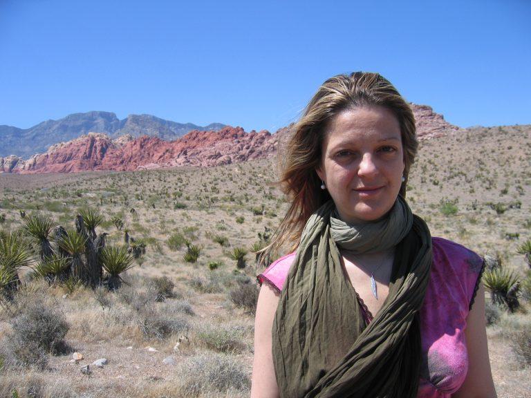 Guylaine Maroist en tournage dans le Nevada
