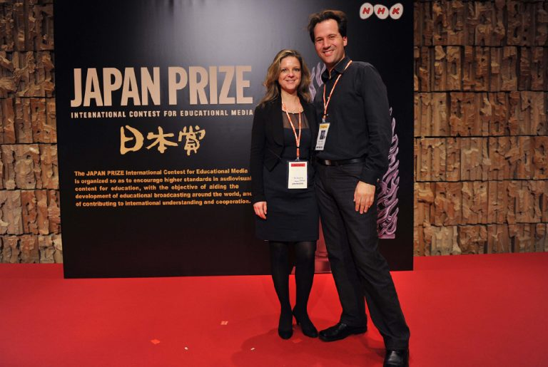Guylaine Maroist et Eric Ruel au Japan Prize