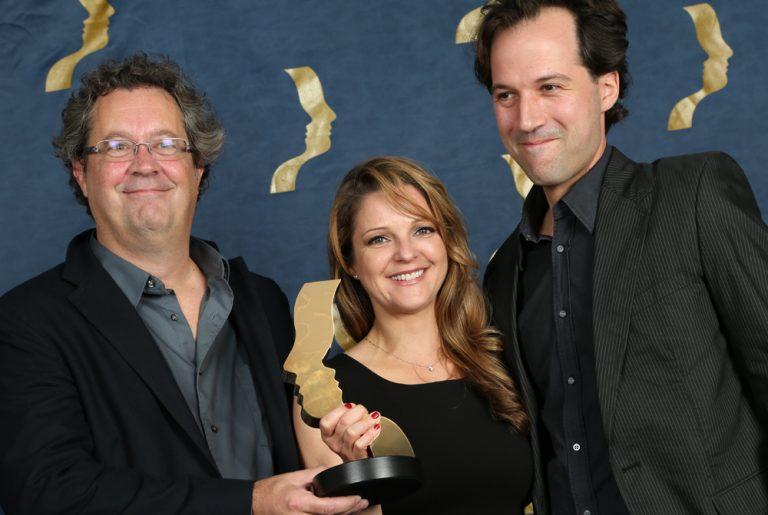 Guylaine Maroist, Michel Barbeau et Eric Ruel au Gala des Prix Gémeaux